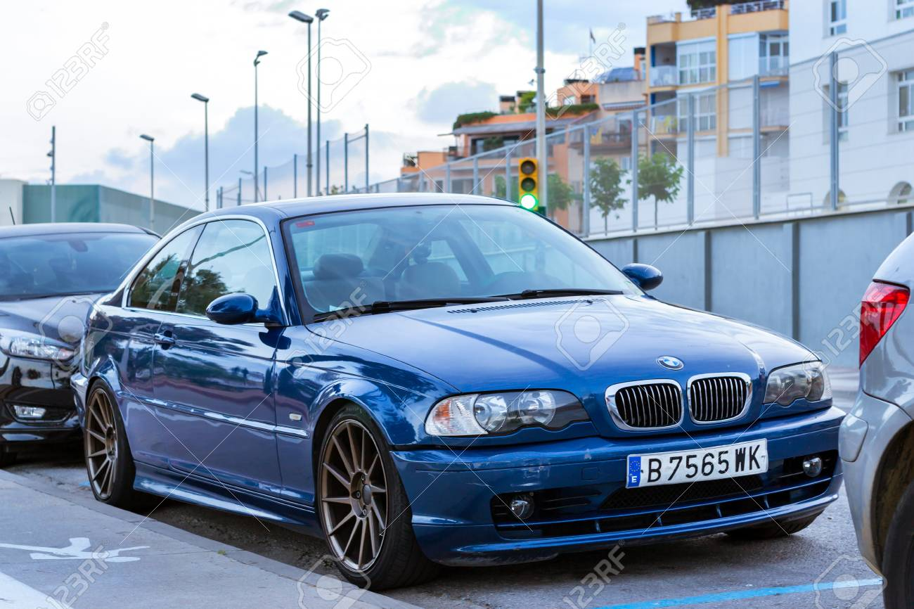 Blanes Spain 30 May 2018 Blue Modern Coupe Car Bmw 5 Series Stock Photo Picture And Royalty Free Image Image 127375858