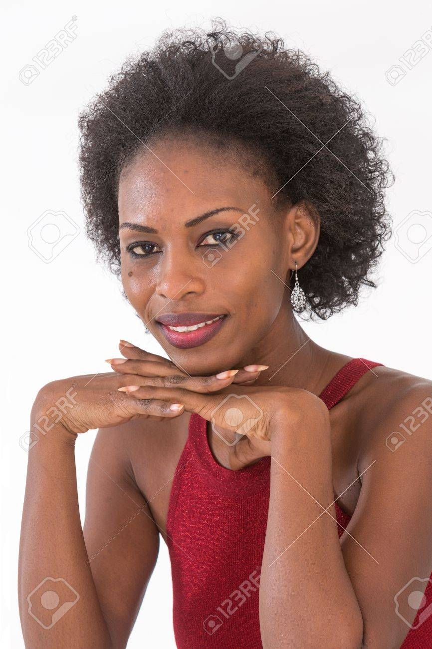 african woman with natural curly hair - 54118554