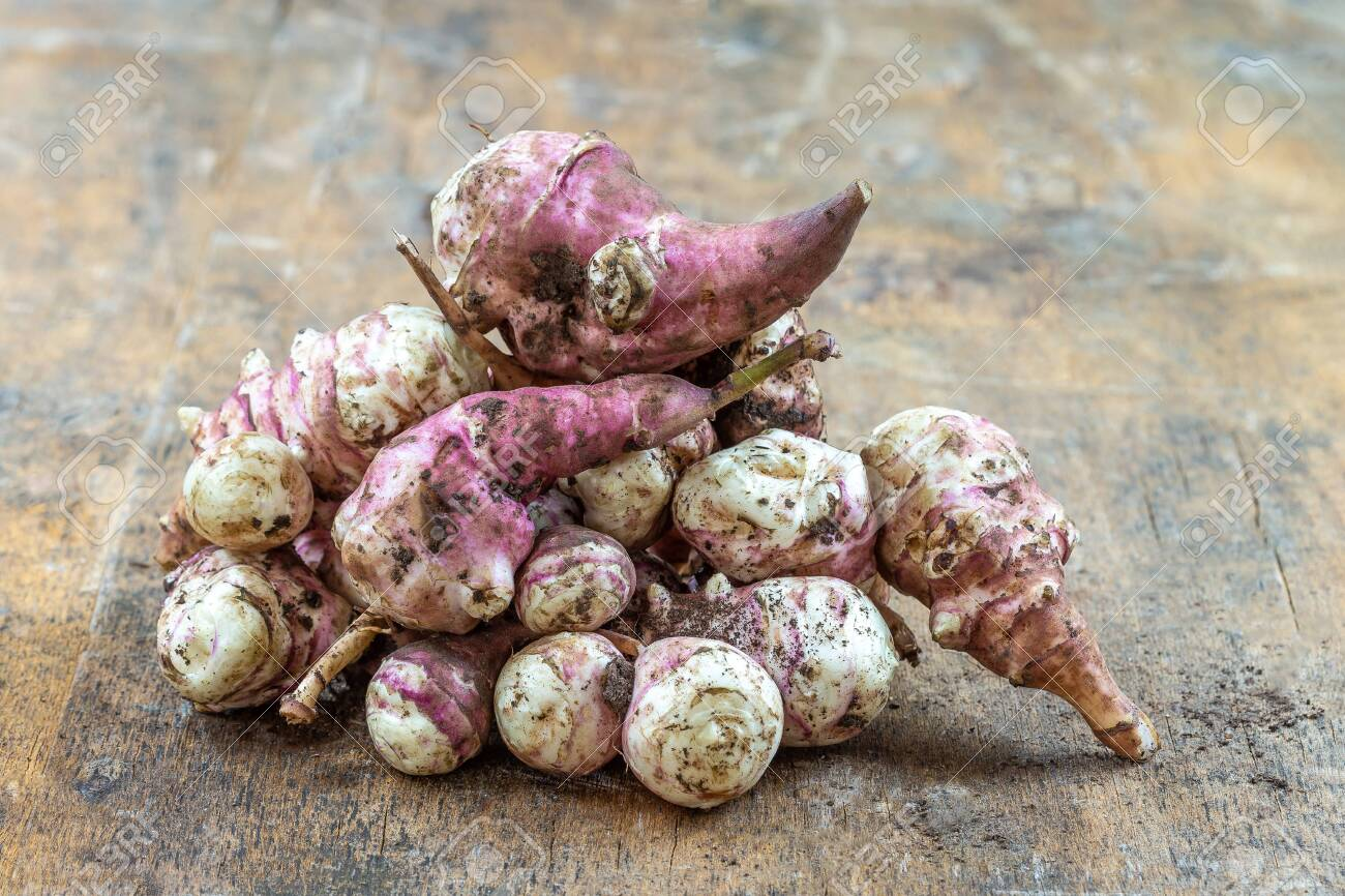 Jerusalem Artichoke Vegetables Isolated Over White Background Stock Photo Picture And Royalty Free Image Image 132848777