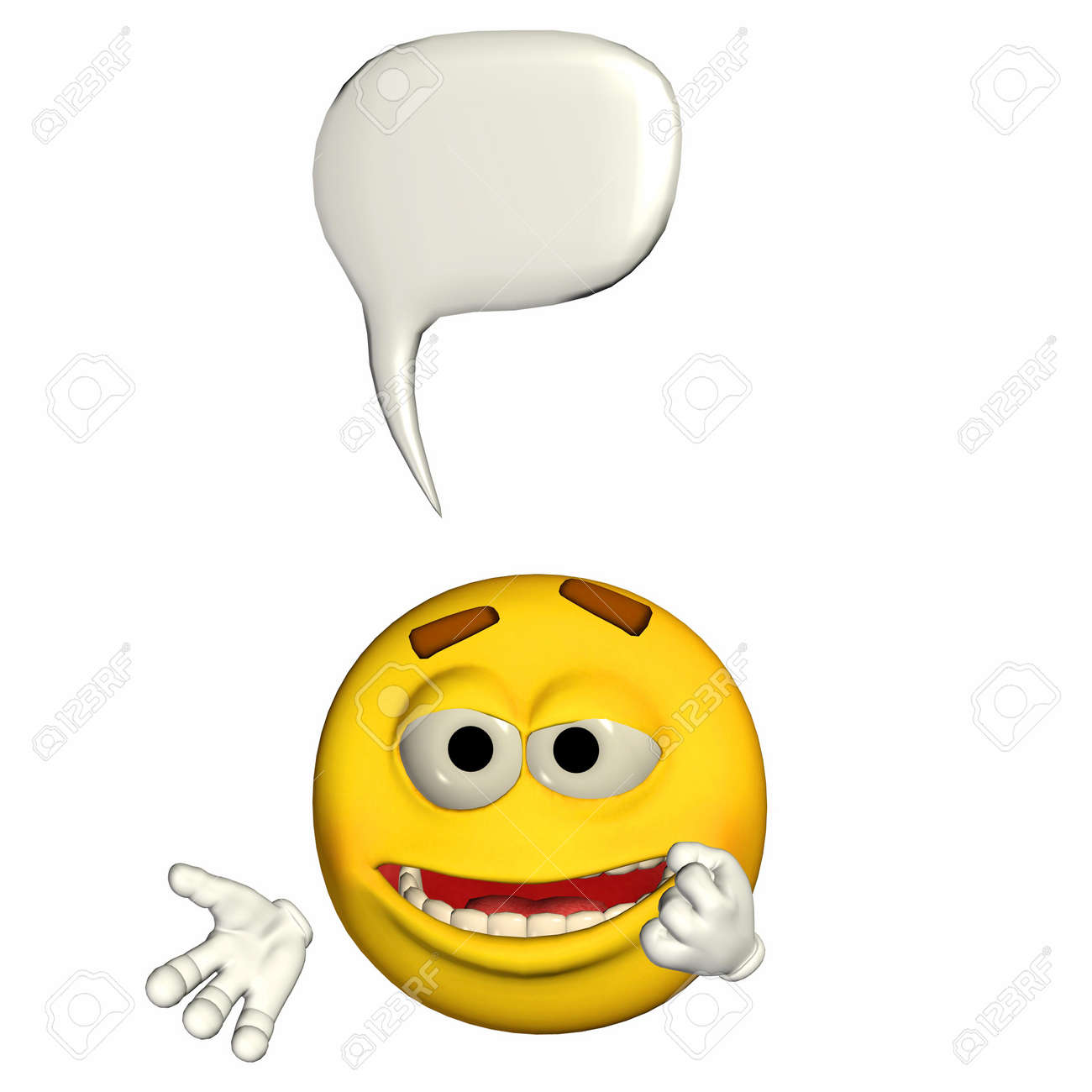 Fancy a light hearted game? - Page 4 12675098-Illustration-of-a-talking-yellow-emoticon-isolated-on-a-white-background-Stock-Illustration
