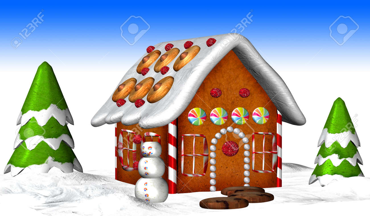 Illustration of a gingerbread house Stock Photo - 12743854