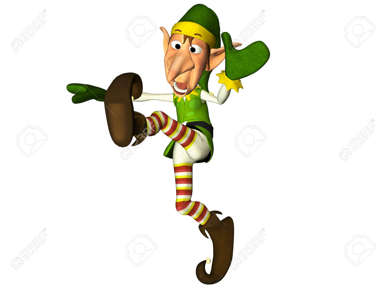 Illustration of a christmas elf isolated on a white background Stock Photo - 12744844