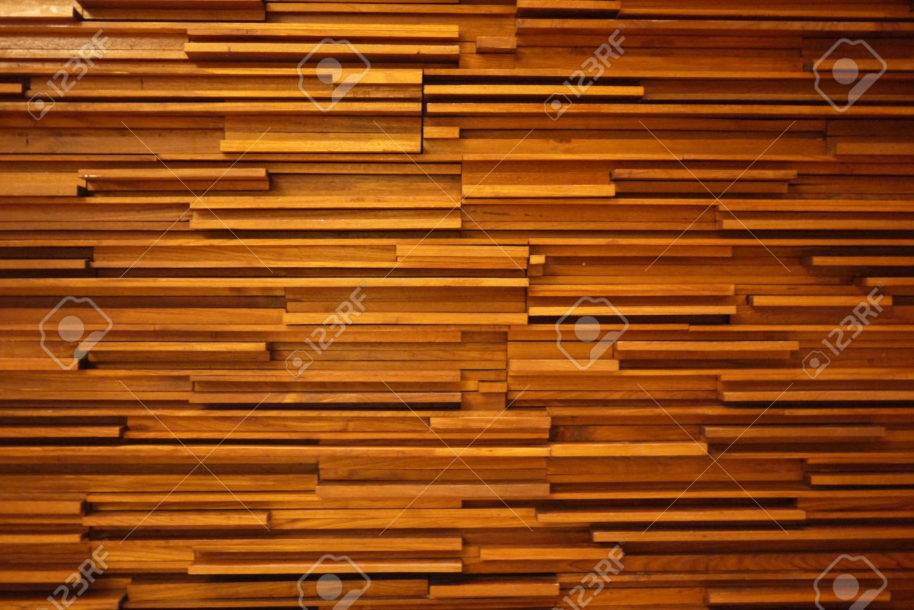 Random Wood Decorated Wall Stock Photo, Picture And Royalty Free ...