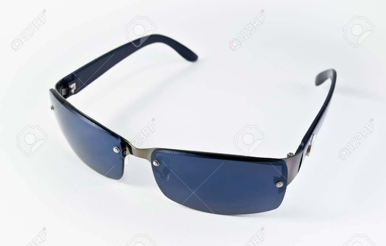 blue sunglasses isolated on white Stock Photo - 17307369