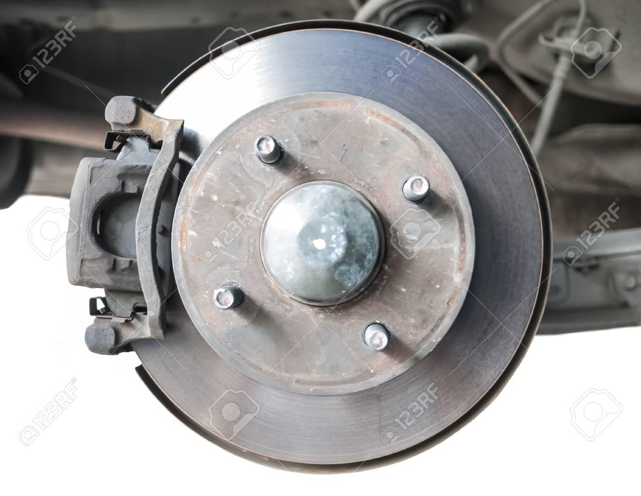Standard car disc brake isolated on white background Stock Photo - 19238073