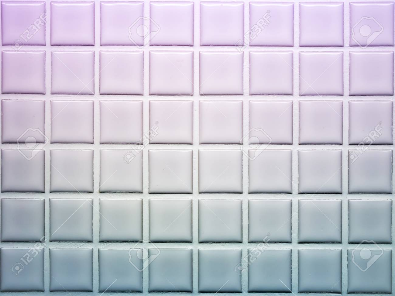 Mosaic Tiles Wall Decoration In Violet And Blue Shade Stock Photo ...