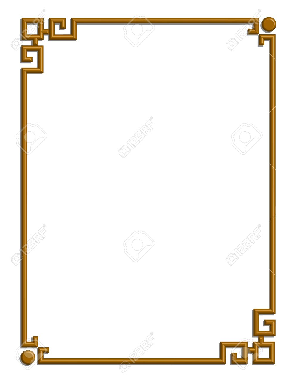 3D vector of beautiful golden frame chinese pattern for text and picture  Stock Vector - 22783682