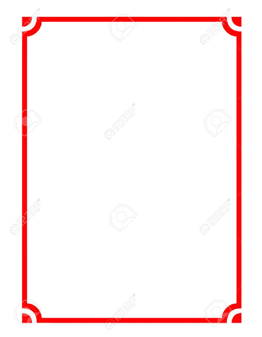 Vector Of Beautiful Red Frame, Modern Pattern Board For Text ...
