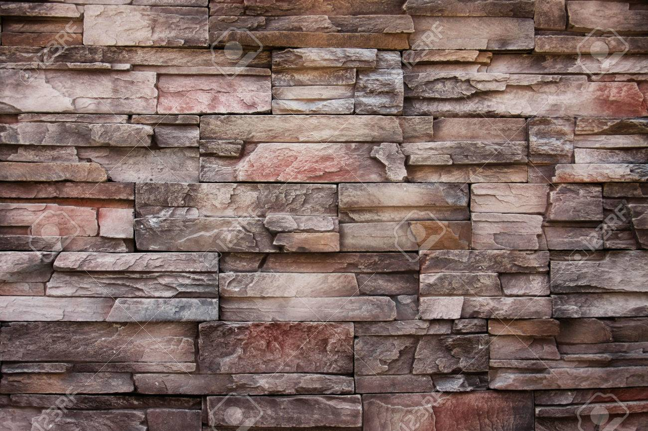 ancient color with modern style of stone bricks wall and abstract