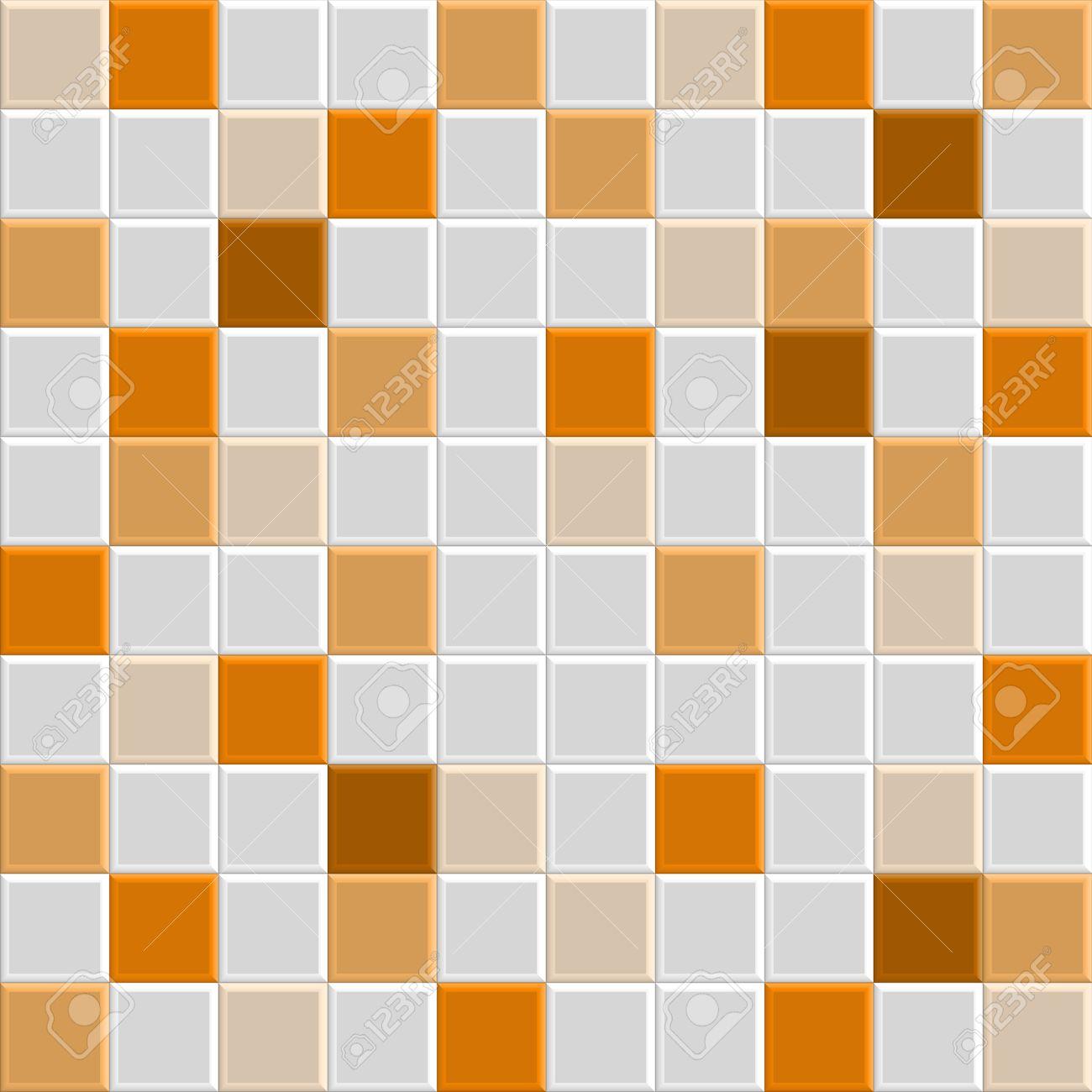 Narancssárga Négyzet Csempe Textúra Fal és A Padló, Csempe Belseje ...