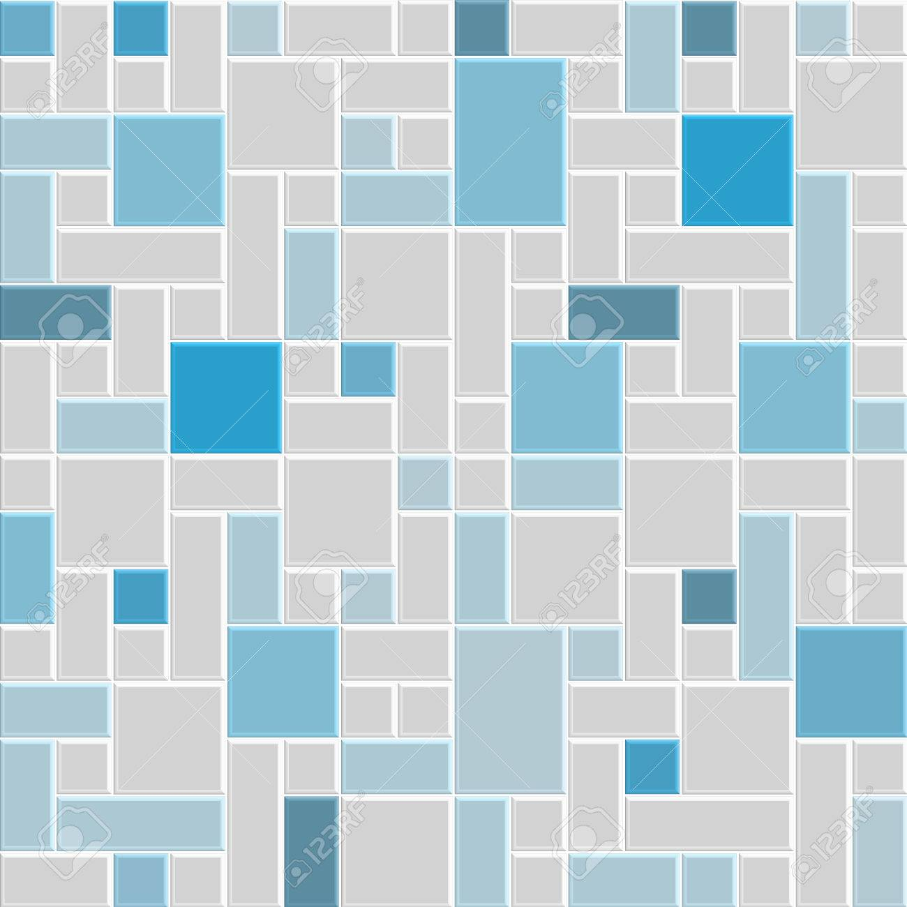 Colorfull Blue And Gray Pattern Tile Floor Royalty Free Cliparts ...