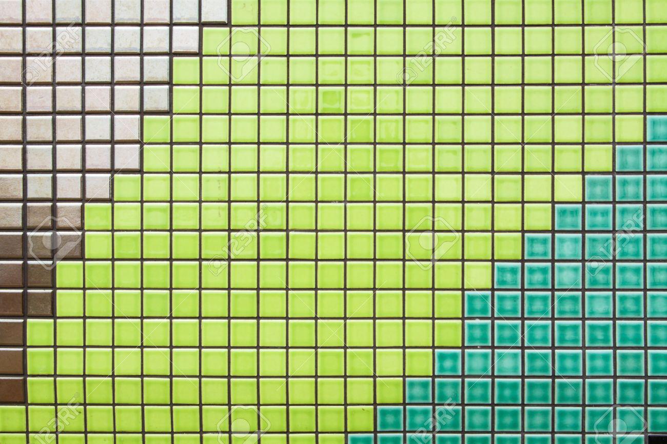 Moderne fliesen textur  Moderne Design Der Grüne Und Braune Mosaik-Fliesen Textur Wand Aus ...