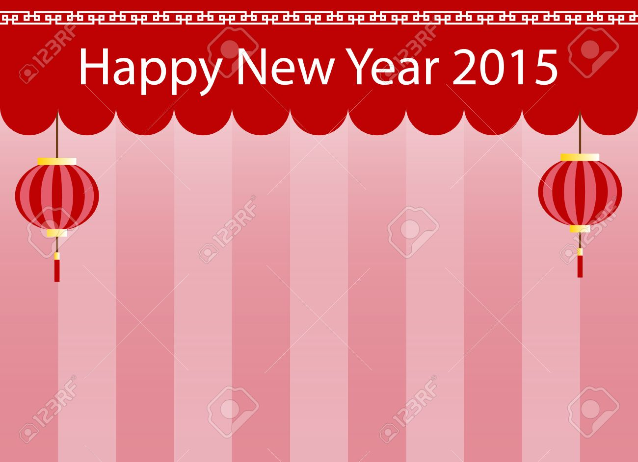 chinese new year 2015 scene stage background and wallpaper stock vector 57548623