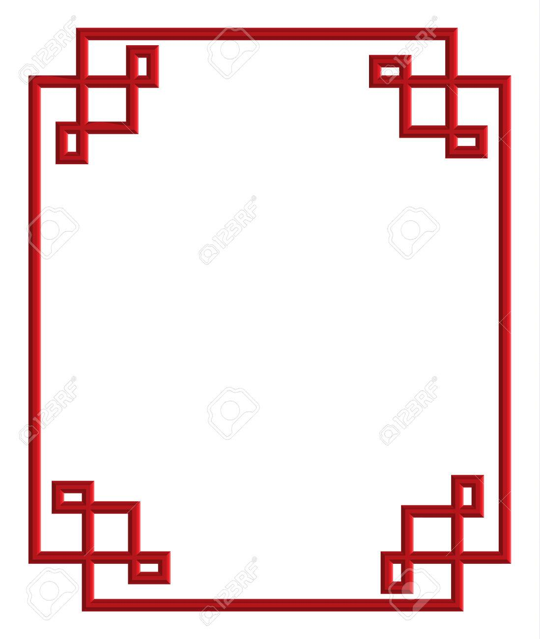 3d Patrón Rojo Del Marco De China, Ilustración Vectorial Para La ...