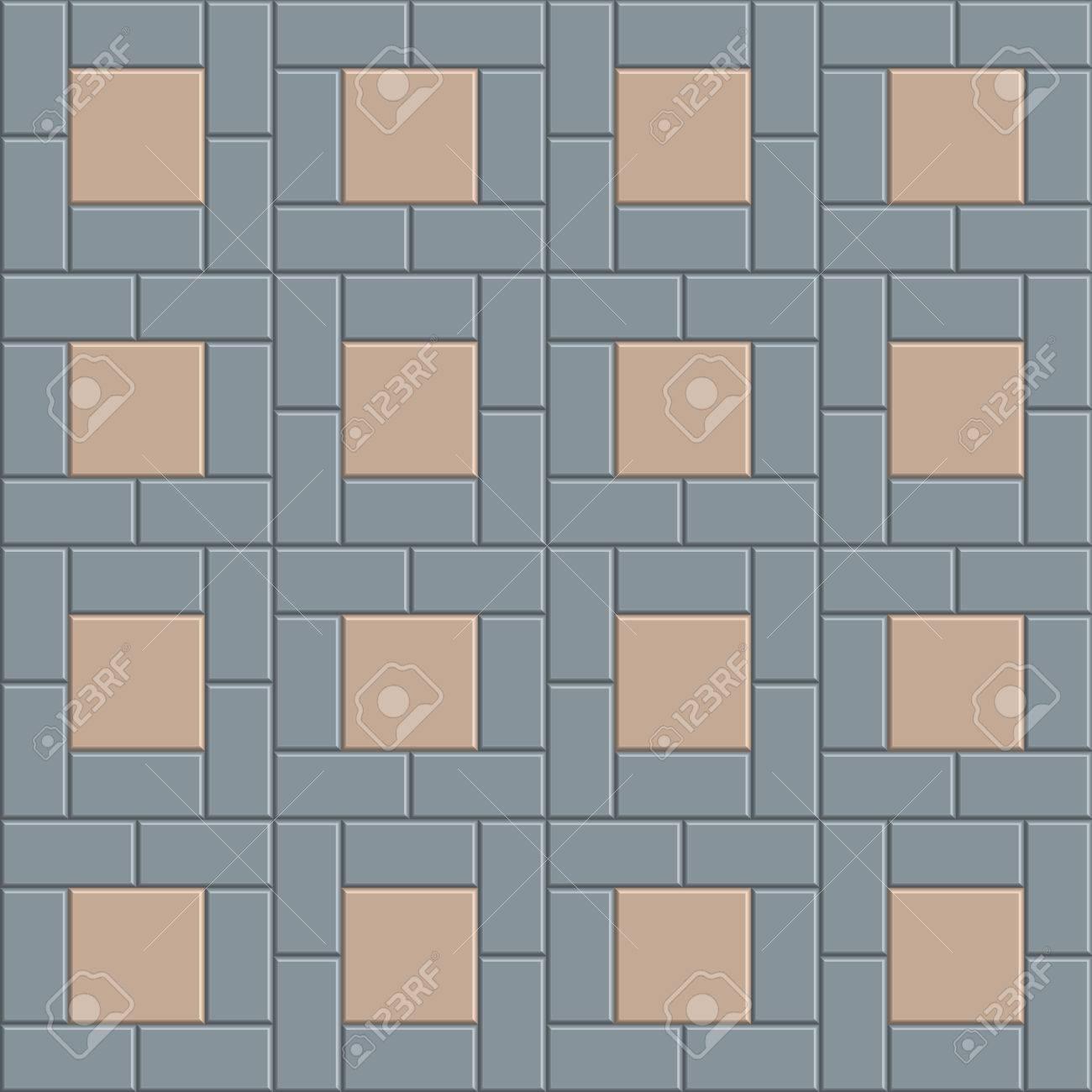 3D Brick Pavement Tile Floor Seamless Pattern For Decoration ...