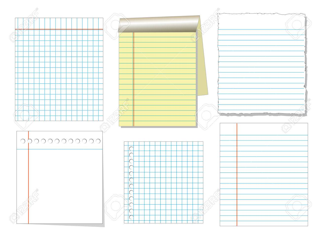 Notebook Paper Word Template Stock Share Certificate Template 80908232 Notebook  Paper And Sheet Isolate On White  Notebook Paper Word Template