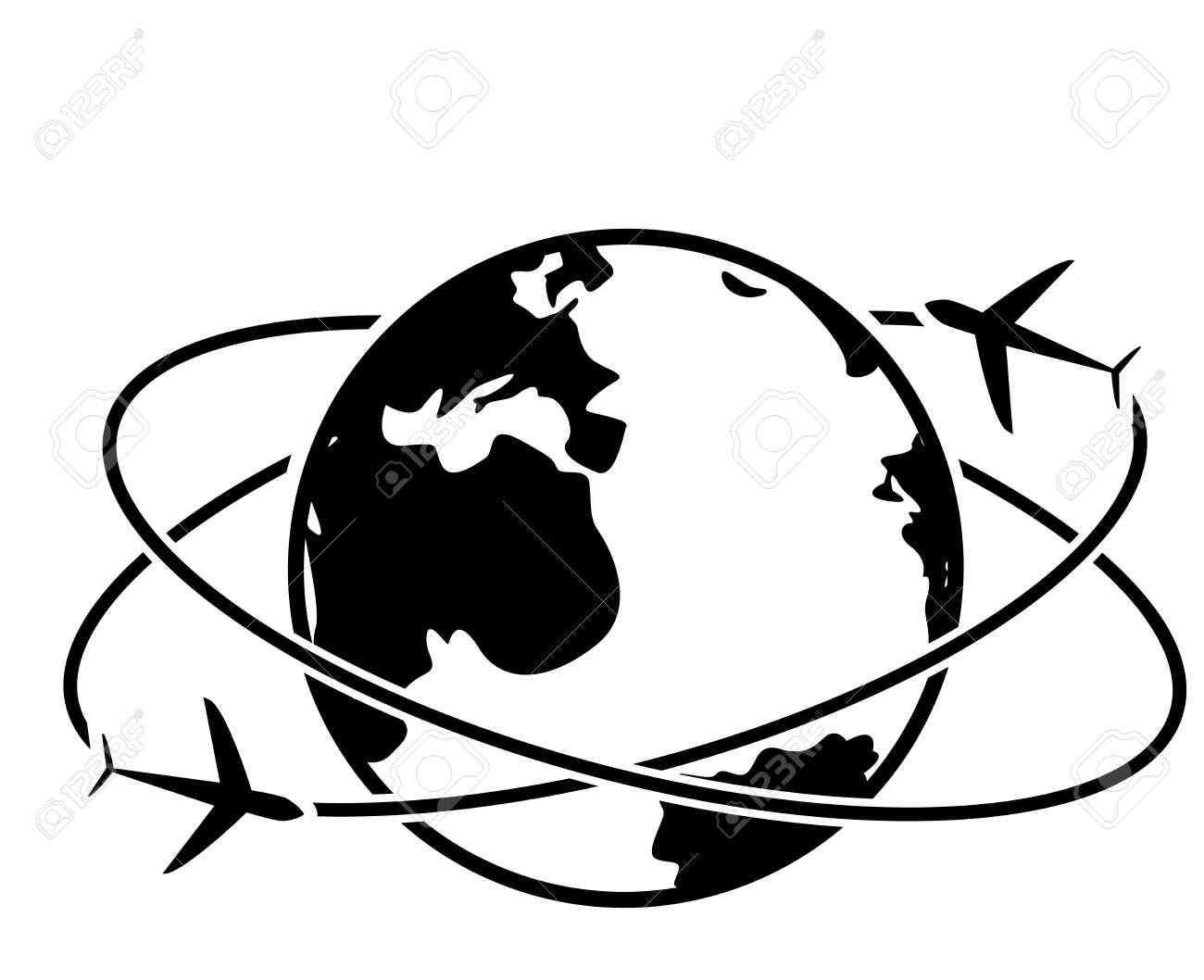 travel around the world icon vector symbol royalty free cliparts rh 123rf com globe icon vector png globe icon vector png
