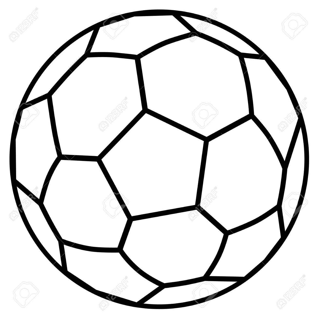 Soccer Ball Outline For Kids Coloring Page Royalty Free Cliparts ...