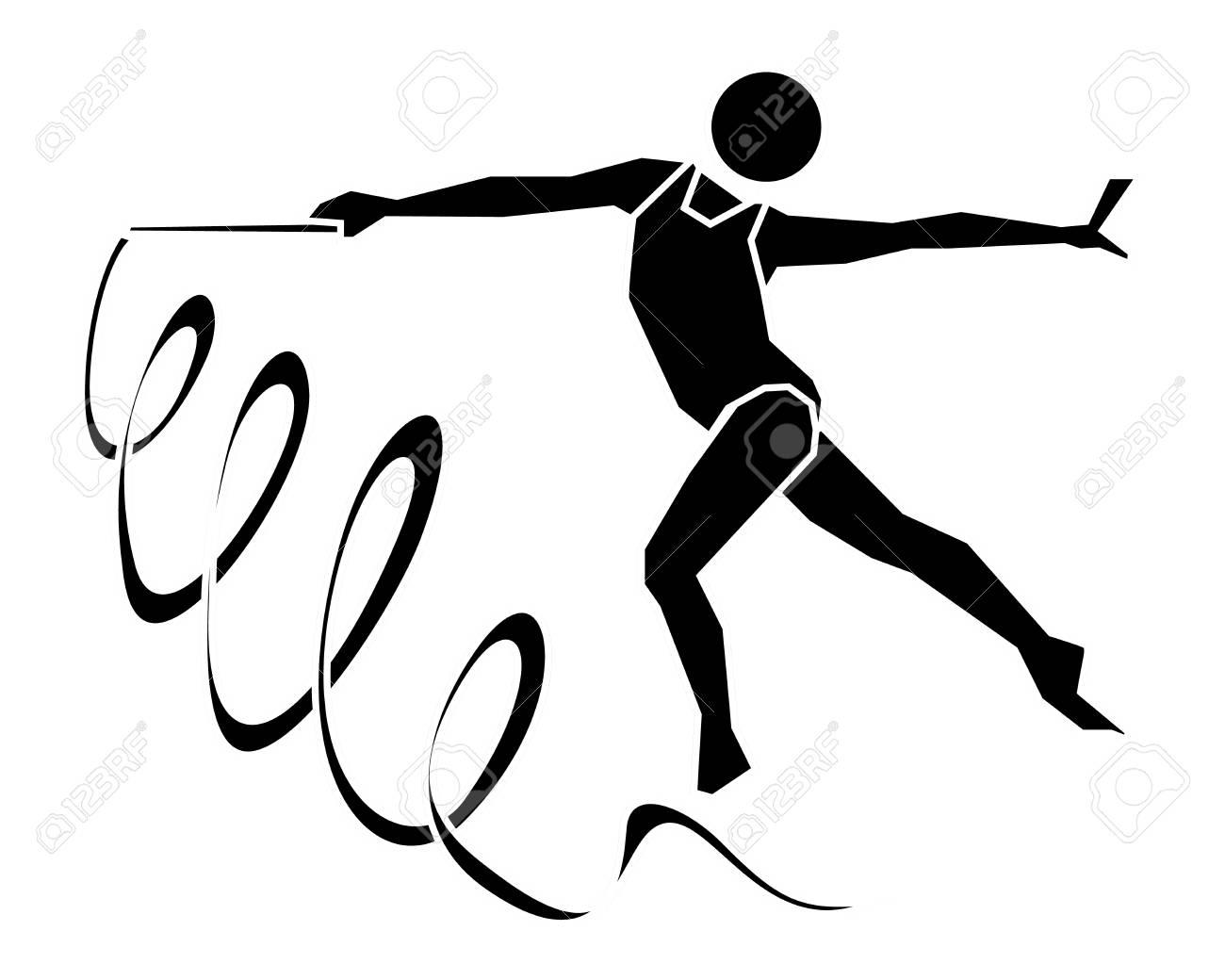 Rhythmic Gymnastics Sign Icon Vector Symbol Royalty Free Cliparts