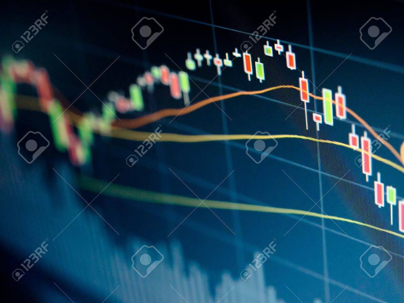 Stock Market Chart on led screen Stock Photo - 20459537