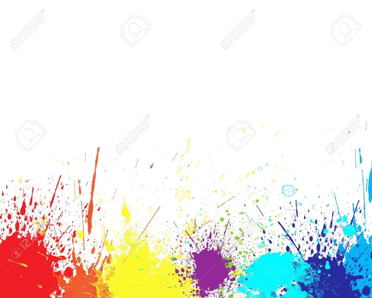 Color Splash In Abstract Isolated On White Background