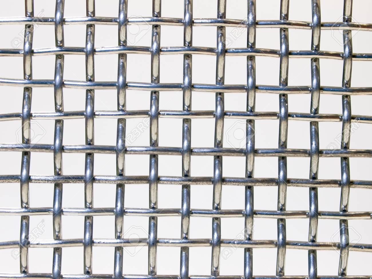 Close Up Metal Wire Netting Cross Structure Stock Photo, Picture And ...