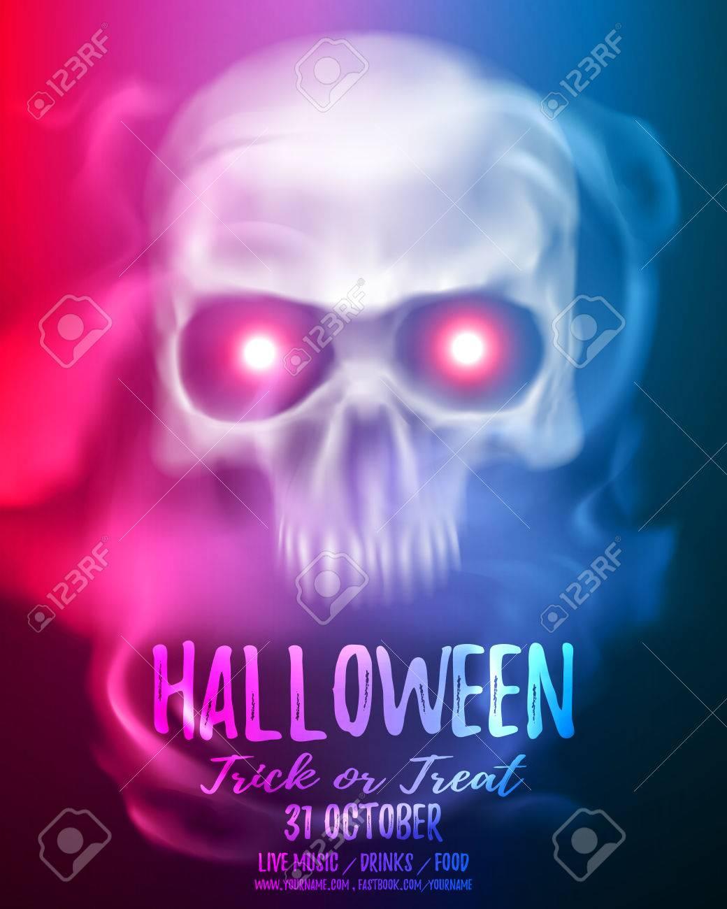 Halloween-Party-Flyer Oder Broschüre Vorlage Mit Transparenten ...