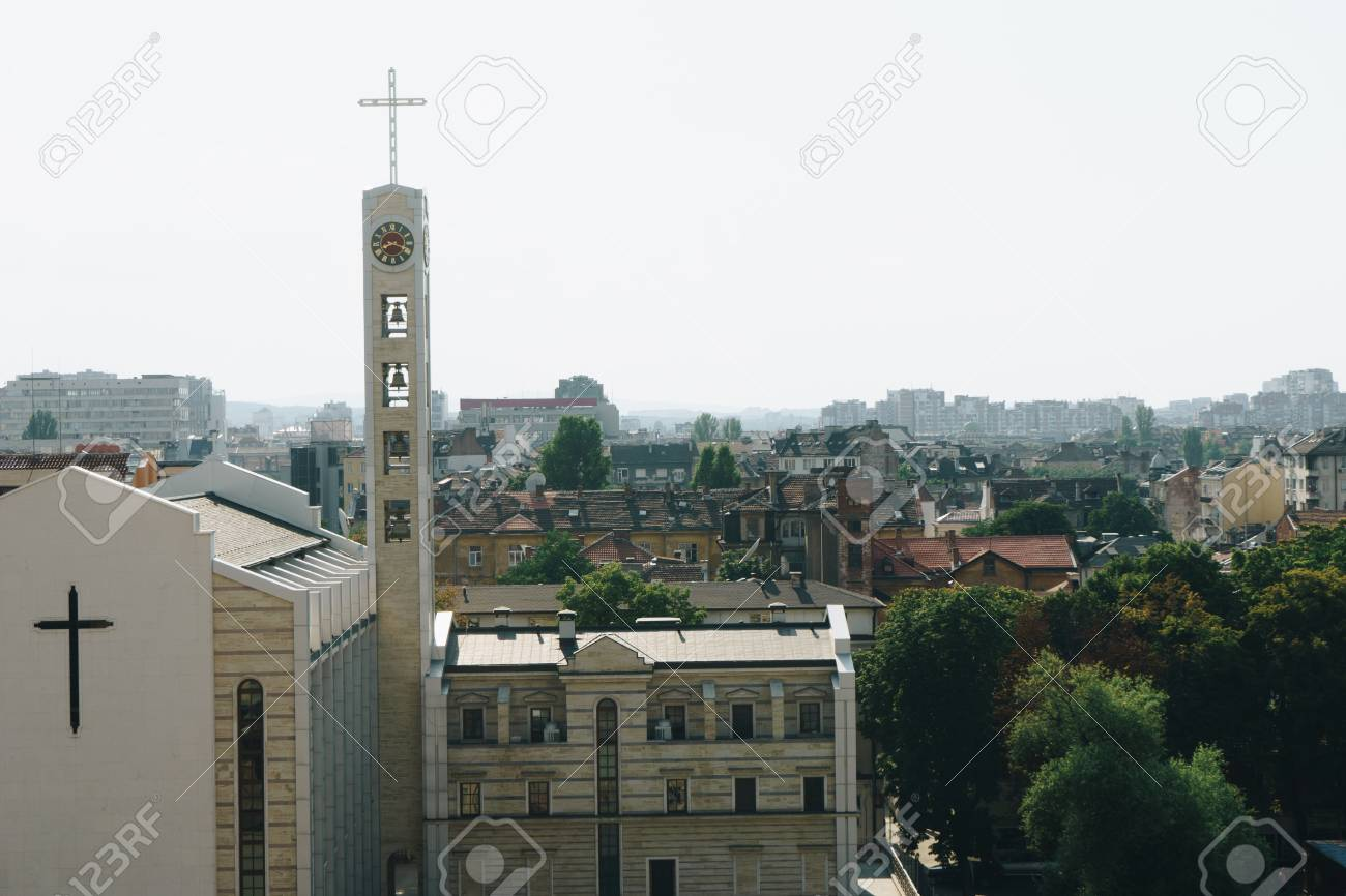 Vista Panoramica Della Città Di Sofia Bulgaria Foto Royalty Free