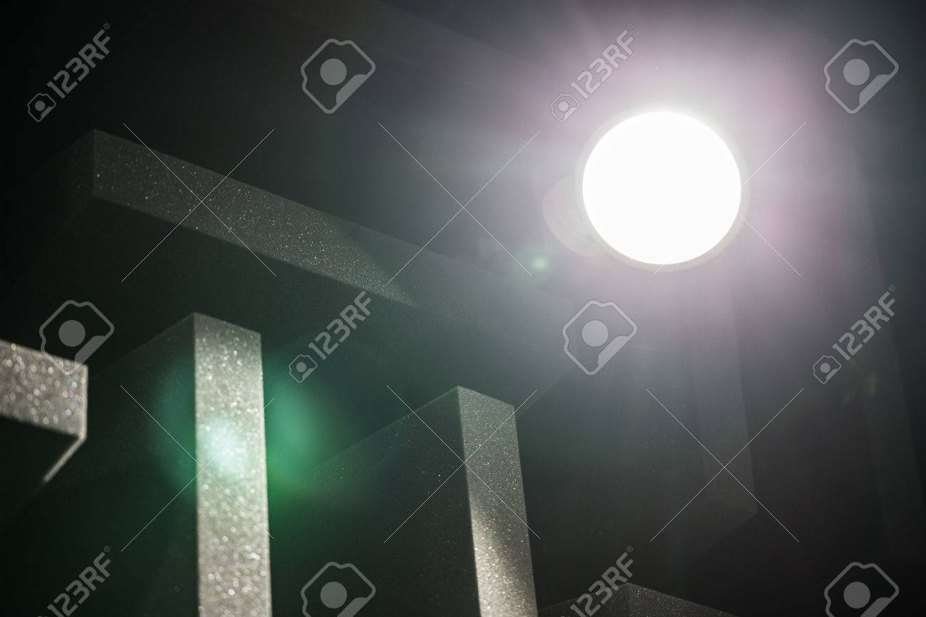 background of studio sound dampening acoustical foam and led light music romm soundproof romm