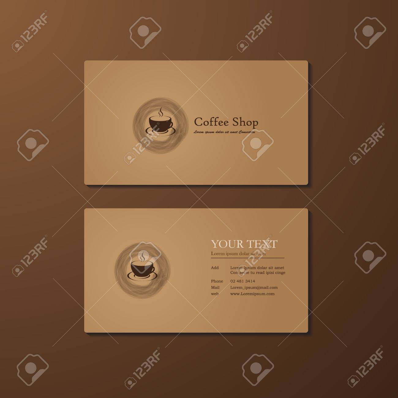 Business Card Coffee Shop Royalty Free Cliparts, Vectors, And Stock ...