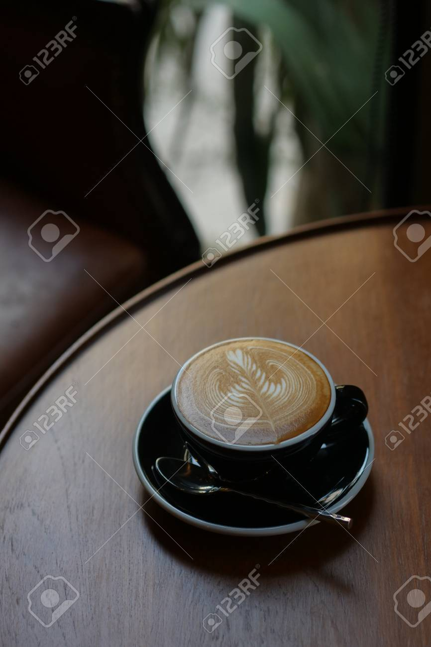 Coffee Latte Art In Coffee Shop Cafe Stock Photo Picture And Royalty Free Image Image 101306684