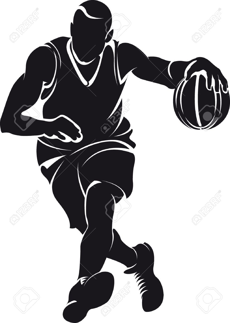 basketball player silhouette stock vector 29865143
