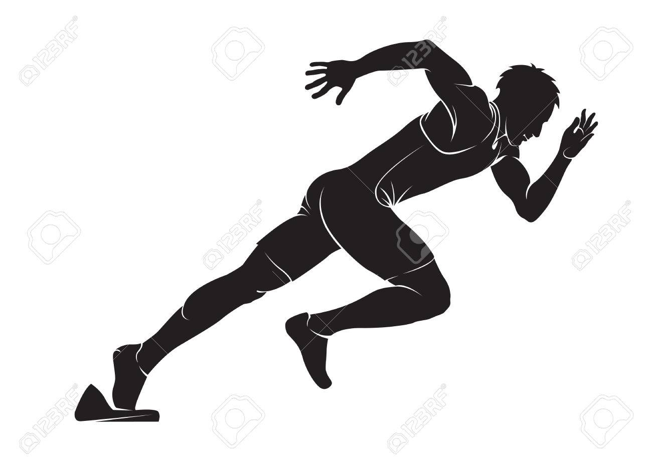 runner vector silhouette isolated on white royalty free cliparts vectors and stock illustration image 39086851 runner vector silhouette isolated on white