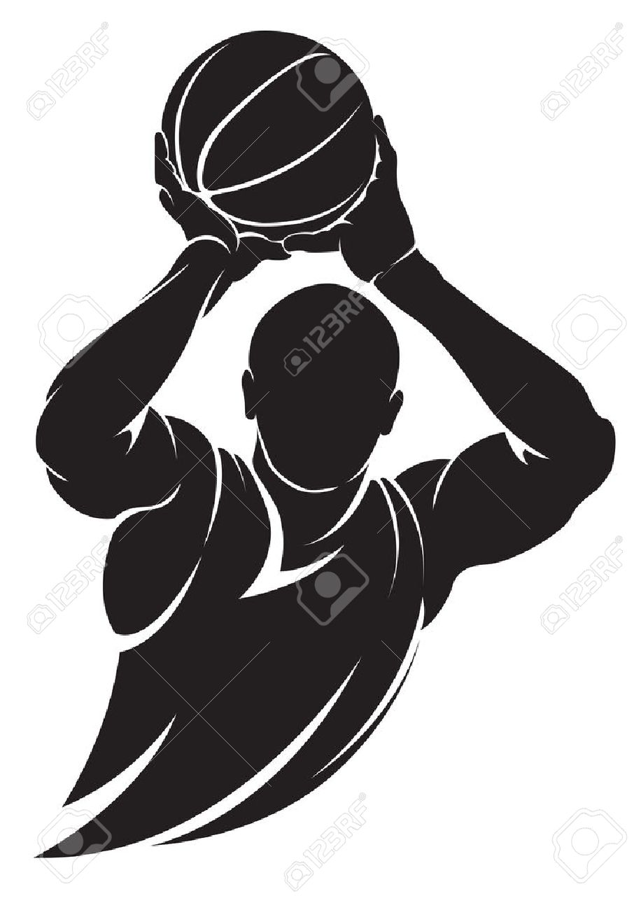 basketball player vector silhouette isolated on white royalty free rh 123rf com basketball player vector basketball player vector