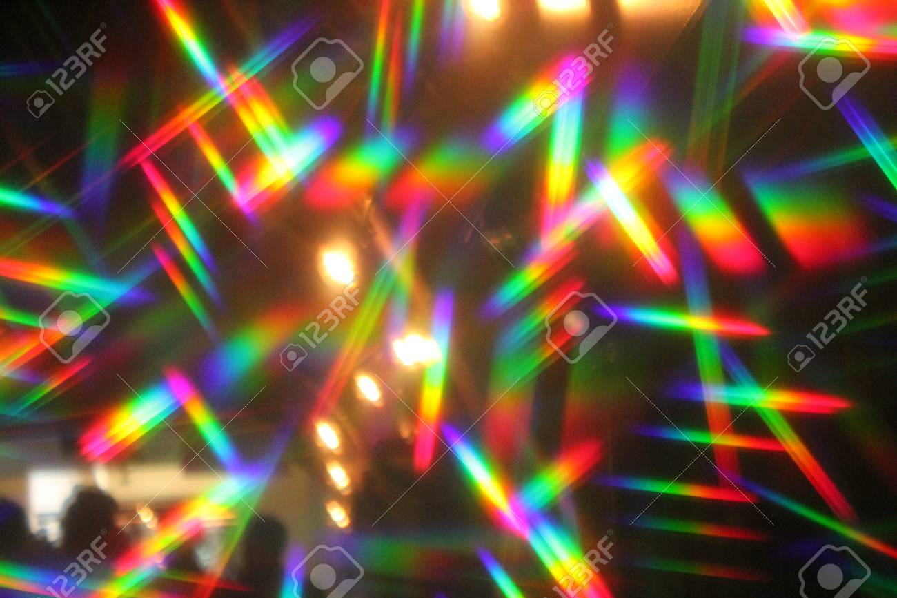 Abstract Lights Nightclub Dance Party Background And Lasers Stock Photo
