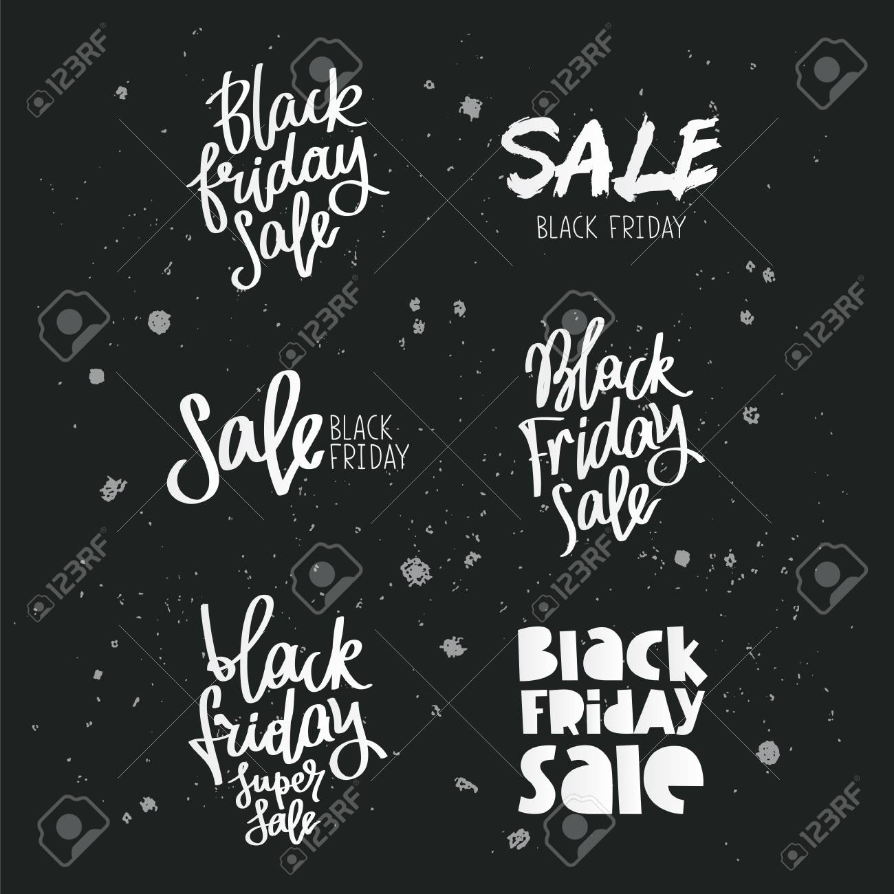 Set quotes on Black Friday. Trend calligraphy. Vector illustration..