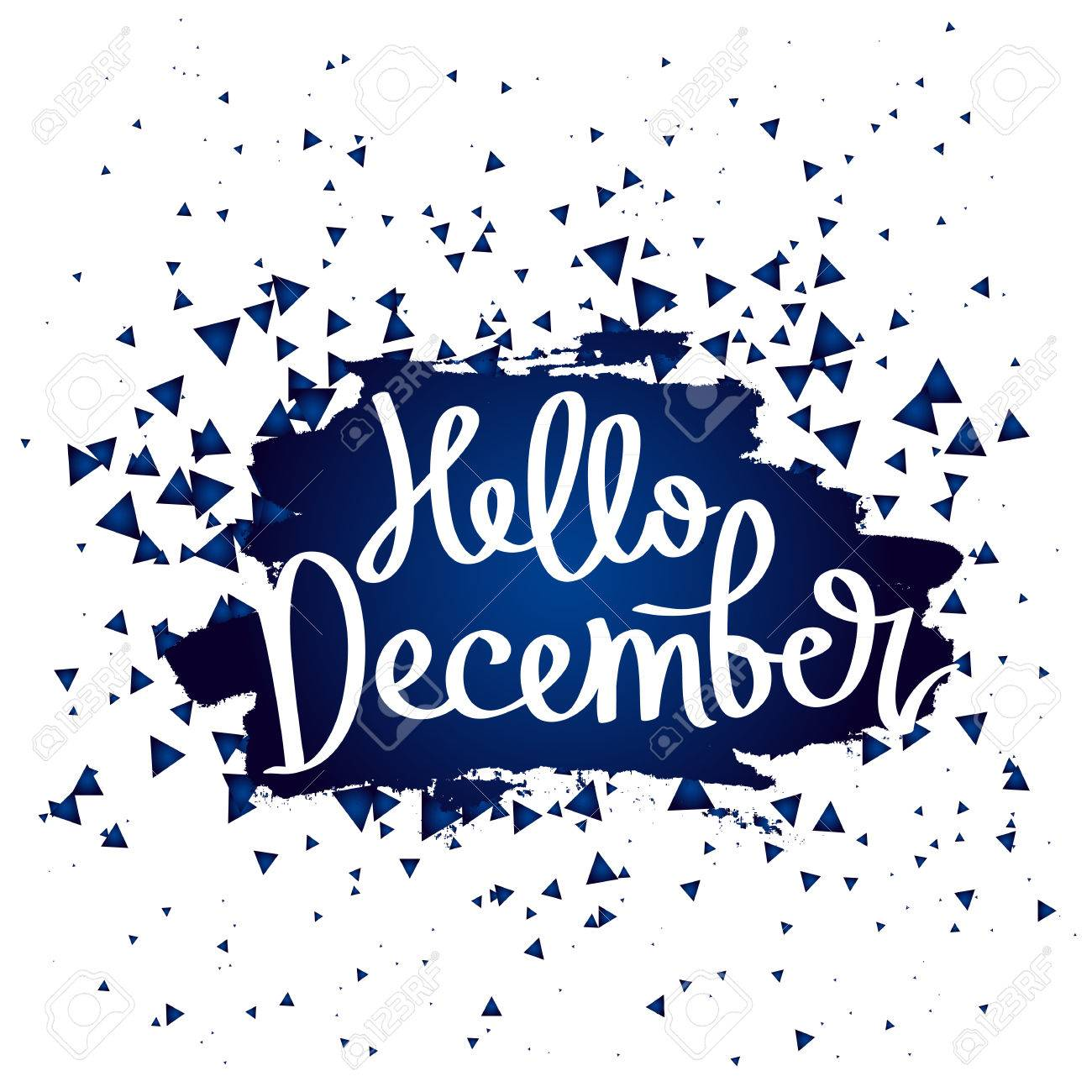 Quote Hello December  The trend calligraphy  Vector illustration