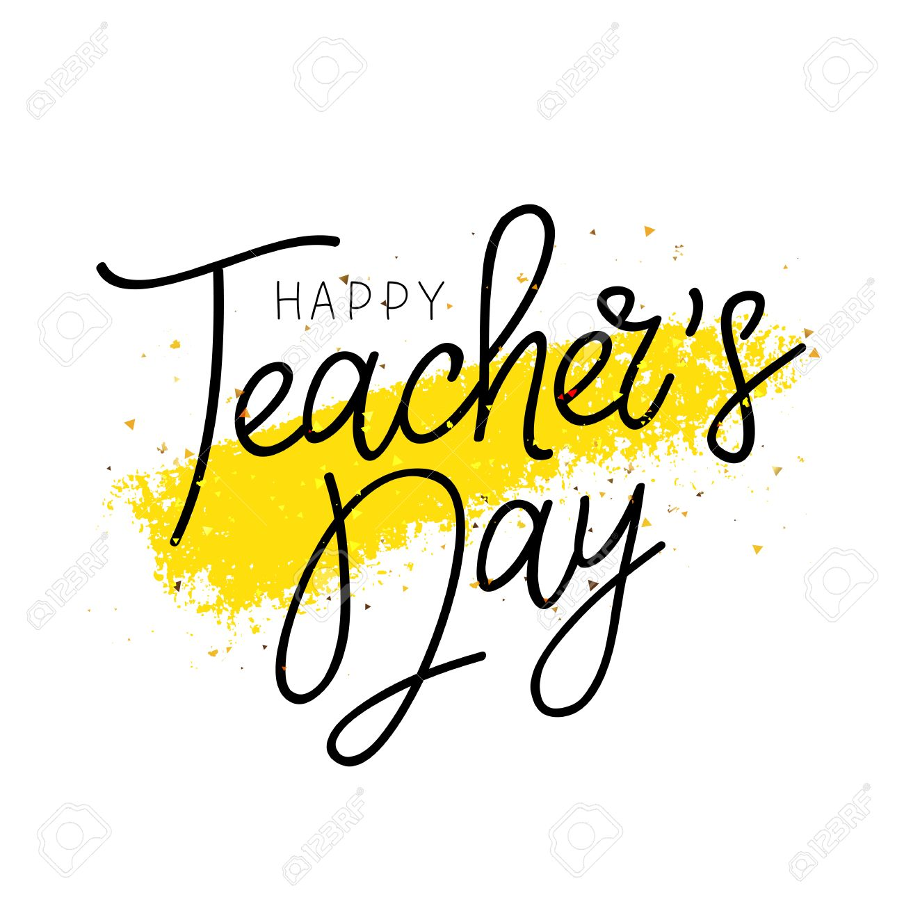 Happy Teacher's Day  Calligraphy and lettering  Vector illustration