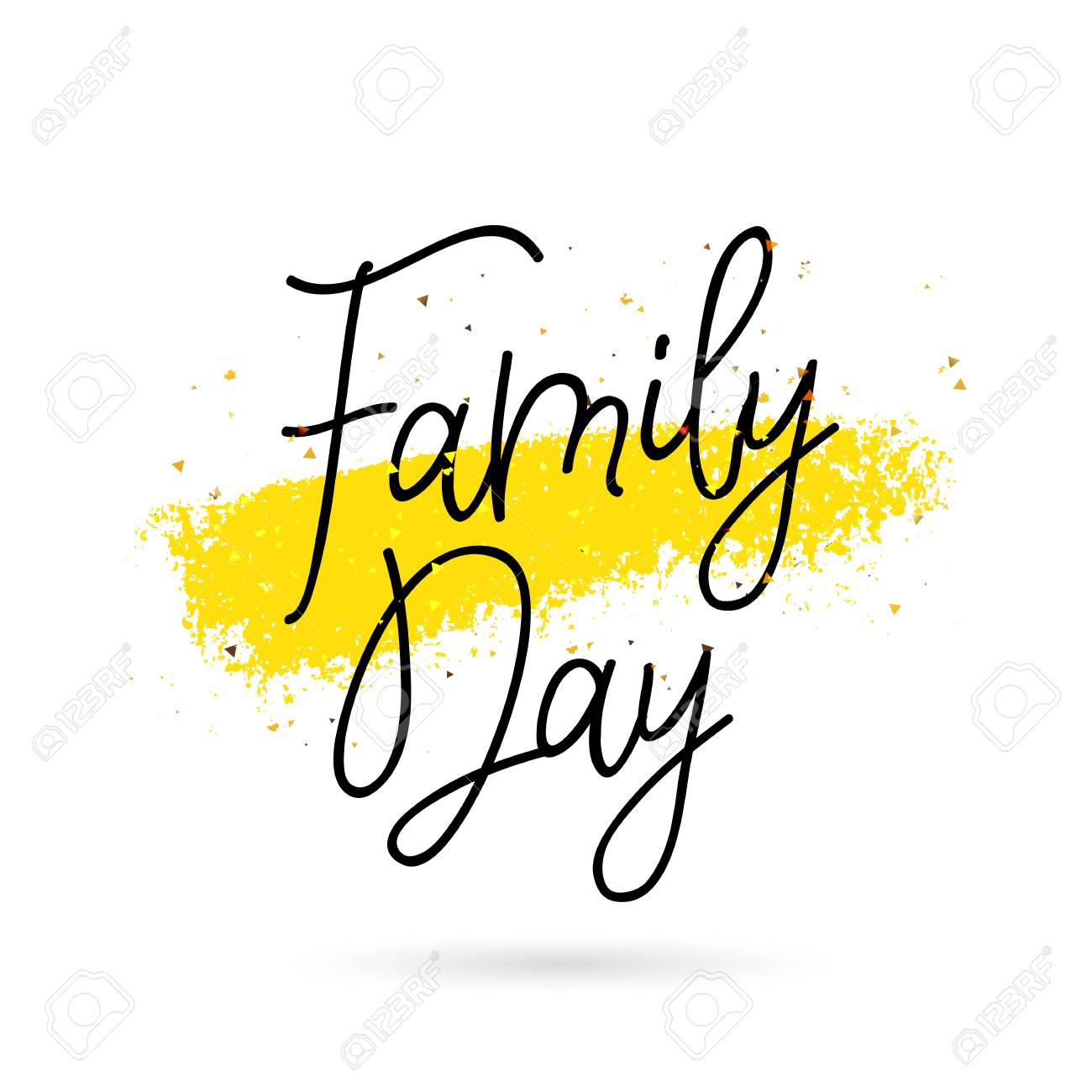 family day calligraphy and lettering vector illustration on rh 123rf com calligraphy vector design calligraphy vector art free