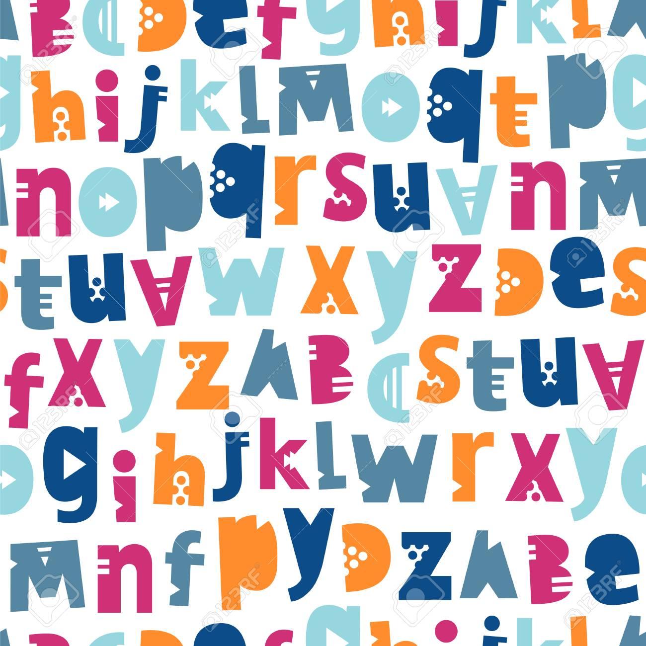 Padrao De Vetor Sem Emenda Das Letras Do Alfabeto Ingles Fundo