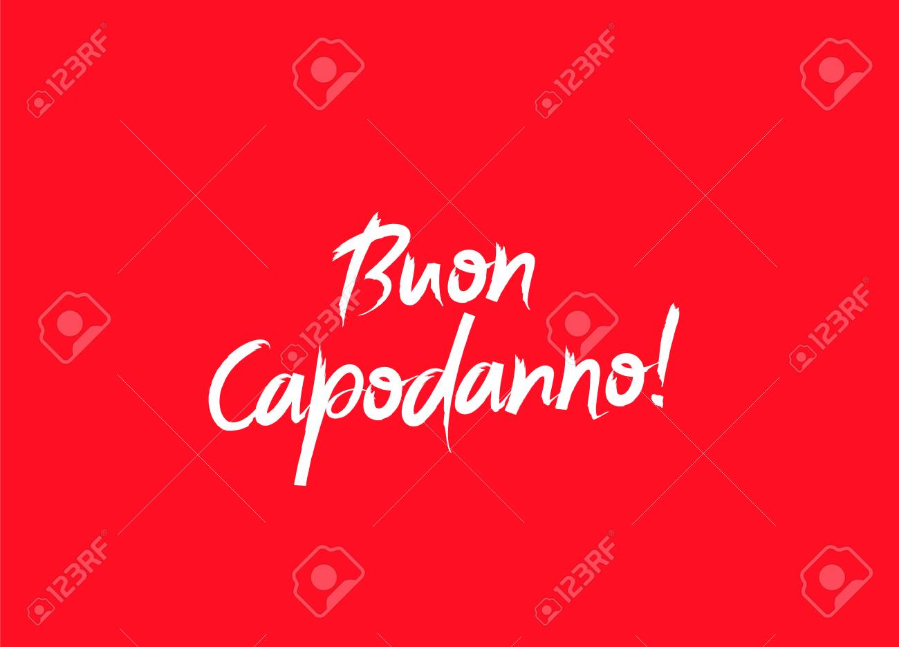 inscription happy new year on italian language vector illustration on a red background elements