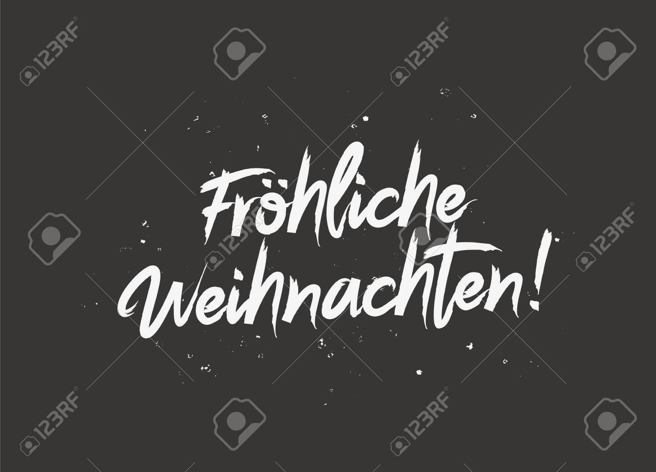 How Do You Say Merry Christmas In German.Merry Christmas On German Language Vector Illustration On A