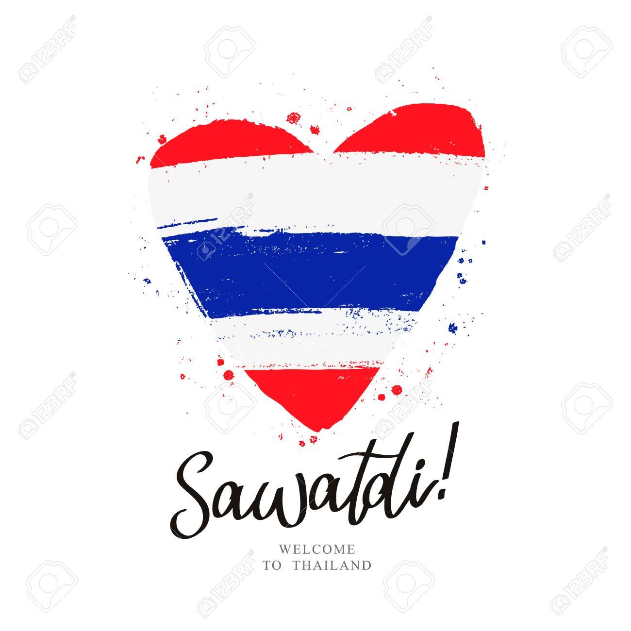 Sawatdi Thai Greeting Illustration Royalty Free Cliparts Vectors