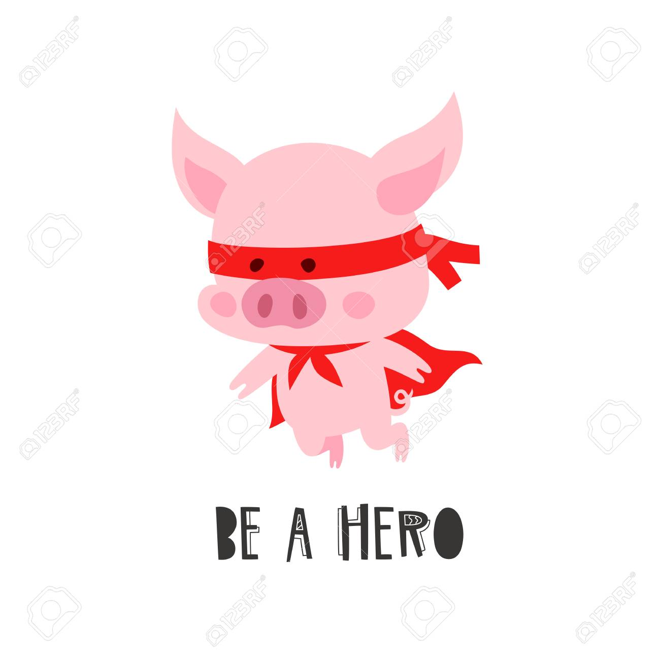 Cute Pig In The Costume Of A Hero The Symbol Of The Chinese