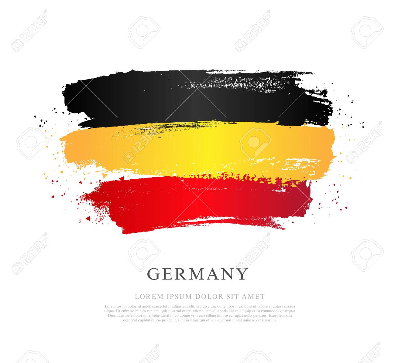 German Flag Vector Illustration On White Background Brush Strokes Royalty Free Cliparts Vectors And Stock Illustration Image 121406185