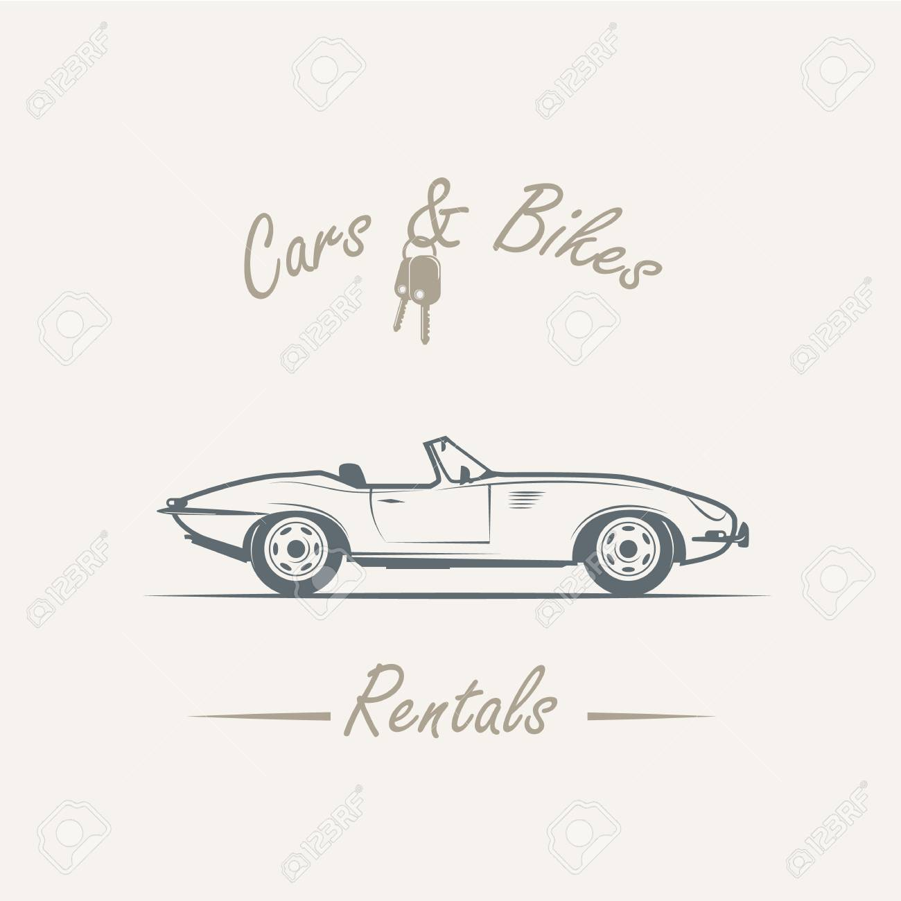 Car In Vintage Style Vector Illustration Logo Royalty Free Cliparts Vectors And Stock Illustration Image 75006755