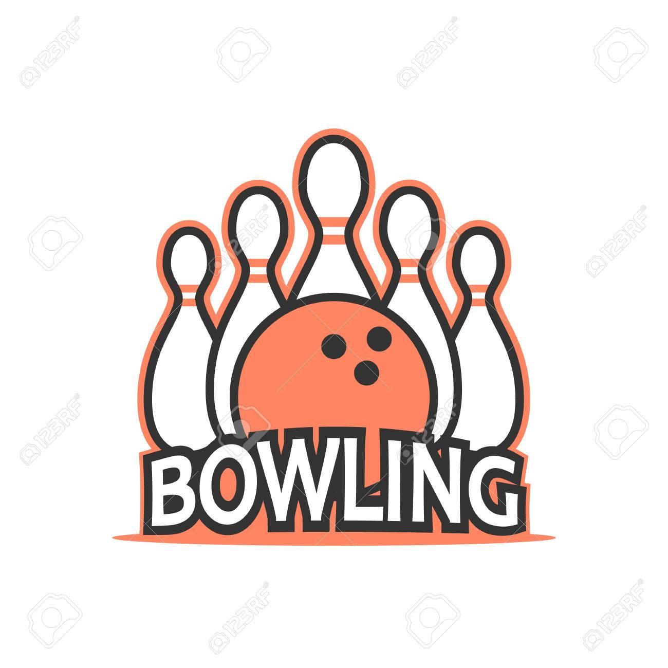 bowling club logo royalty free cliparts vectors and stock rh 123rf com bowling logopedia bowling logopedia