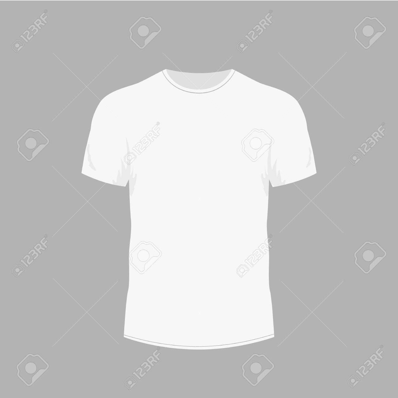 a83128c15 Mens white t-shirt with short sleeve in front views Stock Vector - 80978271