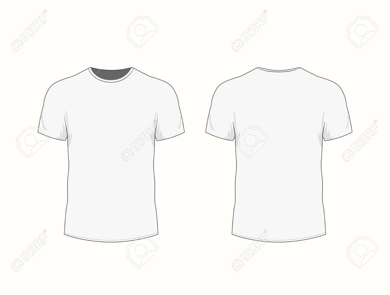 Camiseta blanca para hombre con manga corta en las vistas