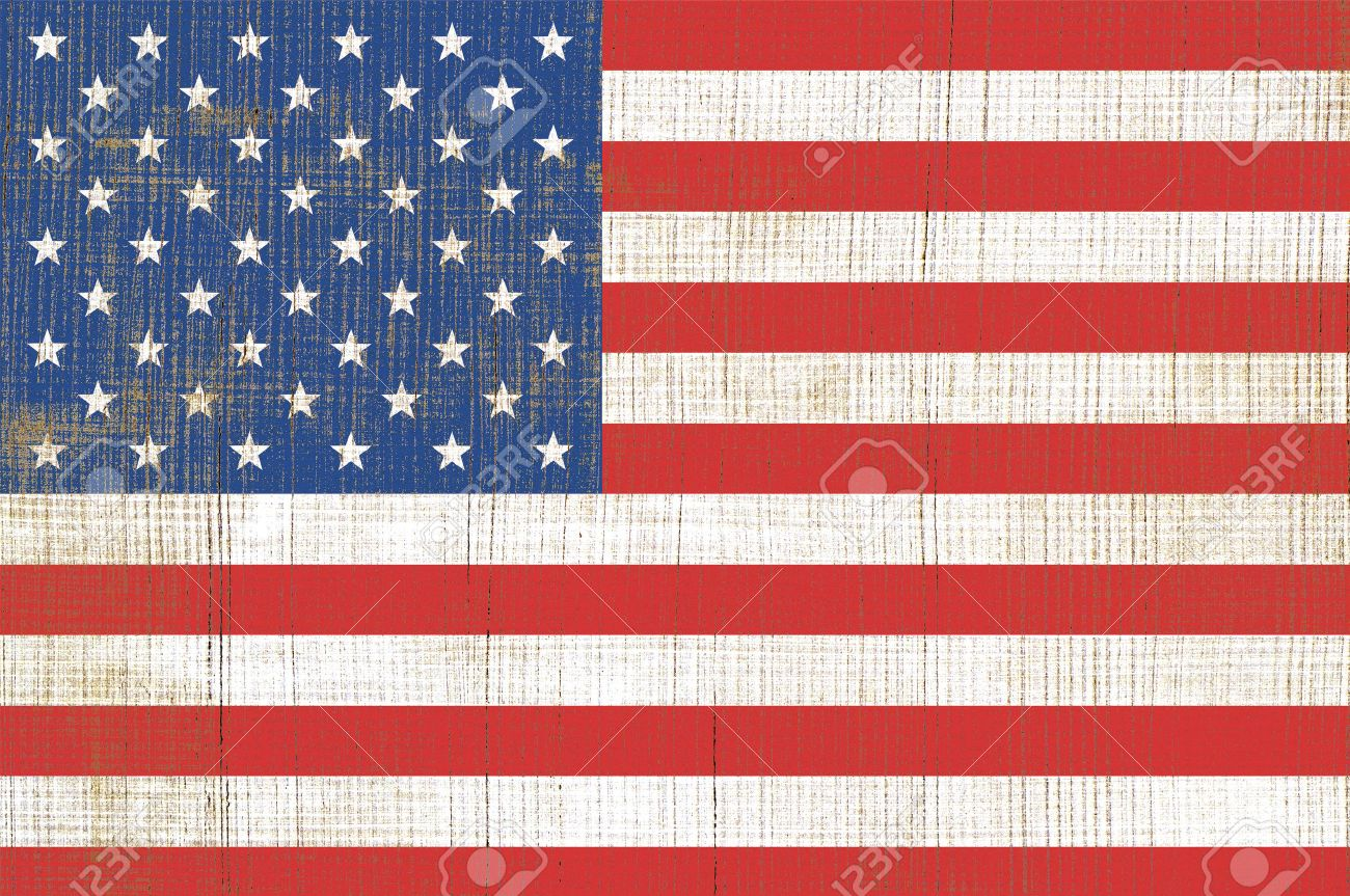 Simple Of Flag United State Of America USA Flag On Old Wooden - How old is the united states of america